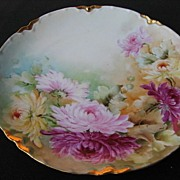 REDUCED Handpainted Haviland Limoges  Chrysanthemum Floral Plate