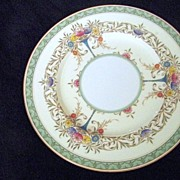 SALE Royal Worcester Enamel Painted Floral Plate England