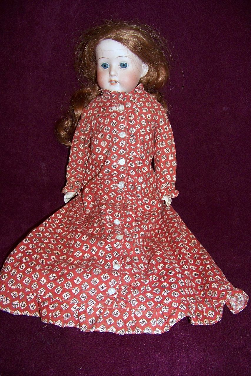 "18"" Antique Bisque Head  Heubach Doll  German"