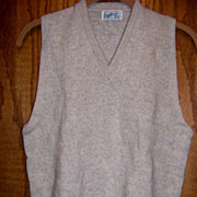 SALE Town & Country Sportswear Sweater Vest Lambs Wool Size S