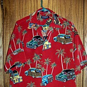 REDUCED Vintage Koman Sports Station Wagon Hawaiian Shirt Size M