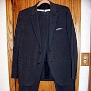 SALE J & F Ease Weight Man's Suit, Clothcraft, Kellogg Id. Dark Gray