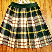 Vintage Carol Evans Girl's Wool Pleated Skirt Penneys