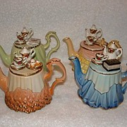 SALE PENDING 4 Limited Edition, Royal Albert Mini Porcelain Tea Pots
