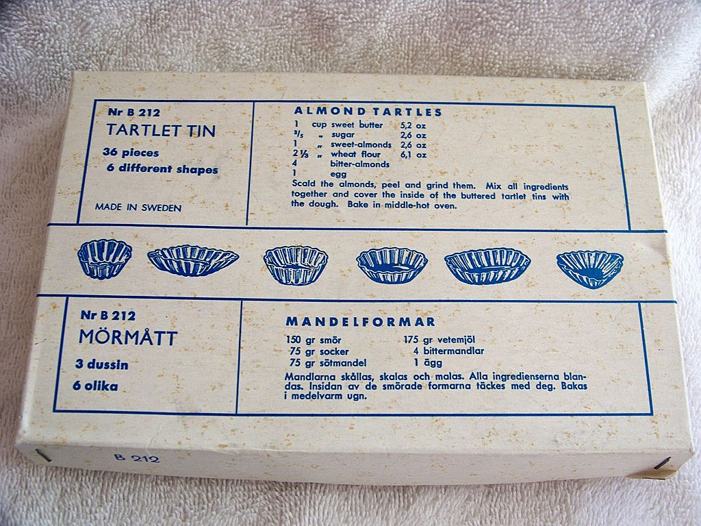 36 Tartlet Tins In Box Set, Swedish Tart Molds