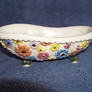 Vintage,  Arners Minature Claw Foot Bath Tub, Soap Dish / Bowl 1975