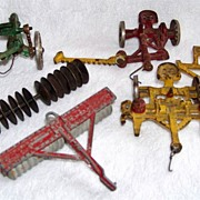 SALE 6 Cast Iron Farm Implement Toys, Arcade & Lancaster
