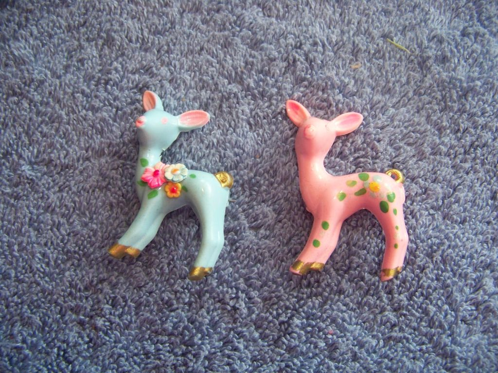 Vintage, Little Girl Deer  Brooch Pins