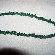 SALE Southwestern Heavy Malachite Chip Strand Necklace