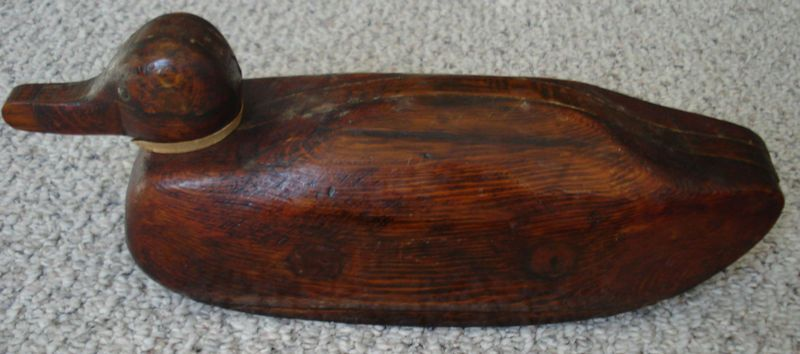 Gorgeous Early Handmade Wood Duck Decoy, 3 parts unique