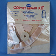 Vintage 1940's, 50's Deluxe Corset Repair Kit,  Peach
