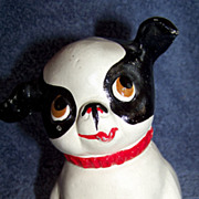 Vintage, Fido Cast Iron Still Dog Bank, Black & White