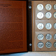 Franklin Silver Half Dollar Complete Set in Book, 1948-1963