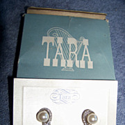 Tara,  New York, Rhinestone & Faux Pearl Clip Earrings In Box