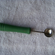SALE Green Handle Melon Ball Spoon