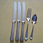 Pat'11 Wm Rogers  3 Knives, 1 Spoon, 1 Fork  Fairmount / Carroliton