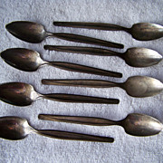 REDUCED 8 Wm Rogers Mfg Co Grapefruit Spoons Silver Plate