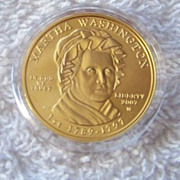 SALE Martha Washington 2007 First Spouse Gold Coin & Box