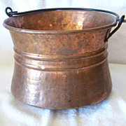 SALE Copper Finished Metal Pan Bucket Wire Handle