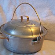 Aluminum Pan W Copper Covered Handles & Lid