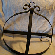 SALE Black Wrought Iron Pot Hanger