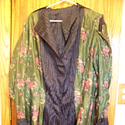 Vintage , Woman's Reversible Jacket  Blue Strips & Floral