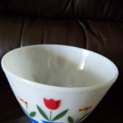 Large  Fire King Tulip Mixing Bowl,  8 1/2&quot;