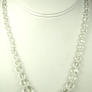 SALE Czechoslovakian Crystal Beaded Necklace