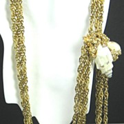 SALE Hattie Carnegie Three Strand Sea Shell Belt and Necklace