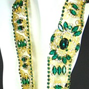SALE Kenneth Jay Lane 1960s Princess Grace Collection Gemstone Jeweled Belt
