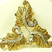 SALE Vintage McClelland Barclay Art Deco Floral Brooch