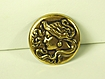 Art Nouveau Gold Tone Metal Lady Pin