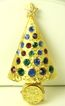 SALE Hattie Carnegie Rhinestone Light Up Christmas Tree Pin