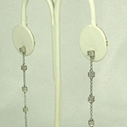 REDUCED Vintage 14kt Gold and 0.35ct Diamond Drop Earrings