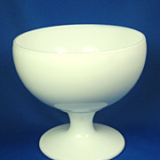 Small Round Milk Glass Compote Dish