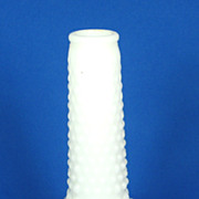 Bumpy Textured Milk Glass Flower Vase