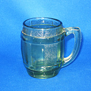 Vintage 1970s Green Glass Mini-Mug