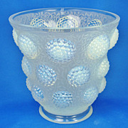 "Art Deco Verlys Opalescent ""Les Cabochon"" Molded Glass Vase"