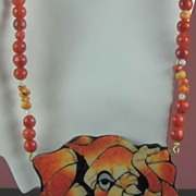 SALE Karla Jordon Designer Coral Elephant with Imitation Pearls