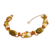 D&E Juliana Green & Citrine Color Rhinestone Bracelet