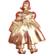 Vintage Marino Dutch Girl Pin Gold Tone