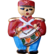 Tiny Soldier Pin Painted On Metal  playing drum