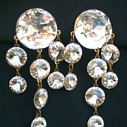 Beautiful Sparkling Clear Crystal Fashion Drop Style Earrings Clip ons