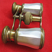 SOLD French Mother of Pearl Opera Binoculars Glasses