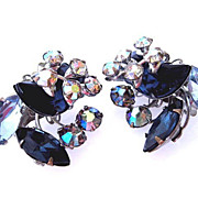 Beau Jewels Beaujewels Sapphire Rhinestone Earrings