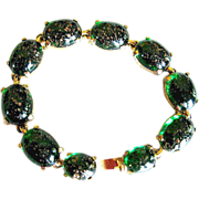 SALE Marvella Inspired Emerald Glass Bracelet