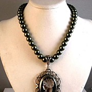 SOLD Victorian Style Cameo Pendant Necklace