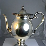 SALE Lehman Brothers Silver on Copper Coffee Pot Circa 1905