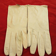 White Ladies Perrella Leather Kid  Gloves
