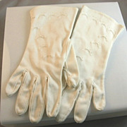 White Cotton Ladies Gloves